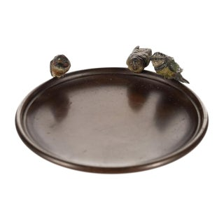 Vienna Bronze 3 Birds Decorative Plate