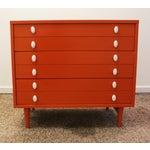 Image of Atomic Orange Laminate Dresser