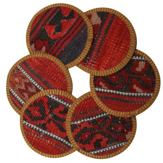 Kilim Dil Coasters - Set of 6