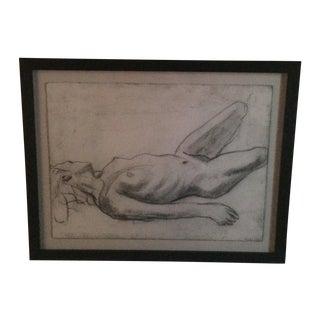 Matt Alston Charcoal Drawing - Nude 2