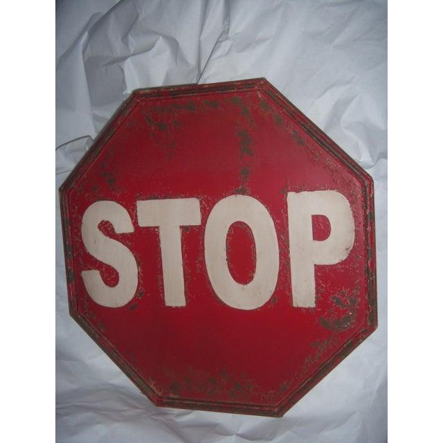 "Tin Retro ""STOP"" Sign - Image 2 of 5"