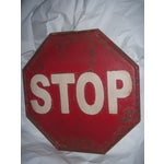 "Image of Tin Retro ""STOP"" Sign"
