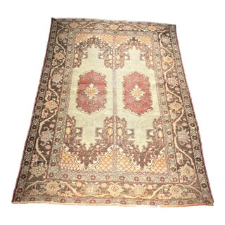 "Belwether Rugs Antique Distressed Turkish Oushak Small Area Rug - 4'11""x7'3"""