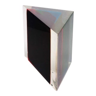Acrylic Rainbow Triangular Sculpture by Dennis Byng