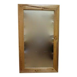 Vintage Elm Floor Mirror
