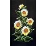 Image of Vintage Sunflowers Original Needlepoint Art