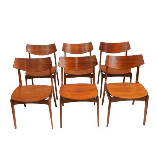 Eric Buch Designer Teak Dining Chairs - Set of 6
