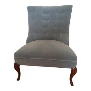 Powder Blue Velvet Chair