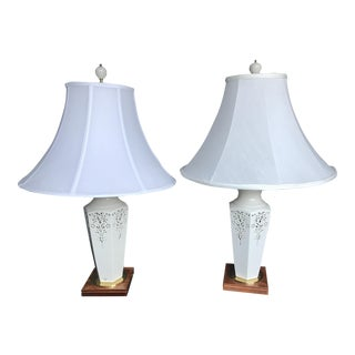 Lenox Renaissance Lace Table Lamps - Pair