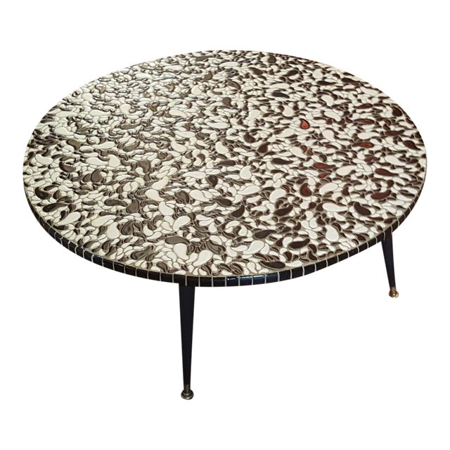 Mid Century Ying Yang Mosaic Tile Coffee Table Chairish