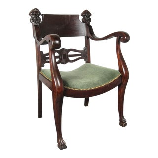Pair of Mahogany Figural Chairs
