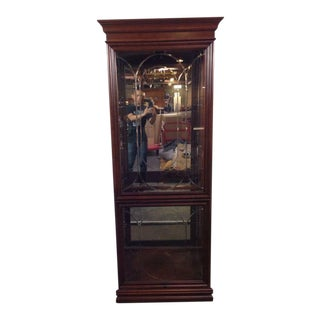 Georgian Style Carved Mahogany Curio Cabinet