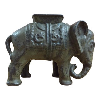 Vintage Cast Iron Elephant Bank