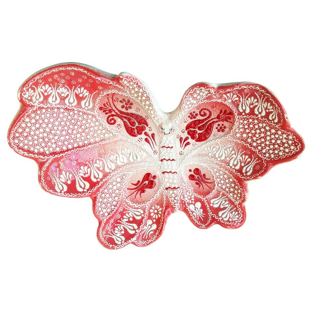 Turkish Handmade Butterfly Plate - Image 1 of 6