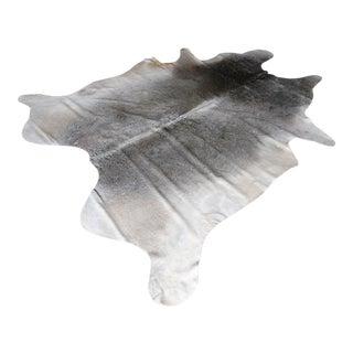 Gray & White Cowhide Rug - 6′8″ × 7′2″