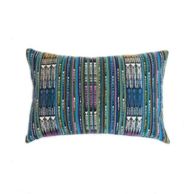 Image of Vintage Guatemalan Blue Ikat Pillow
