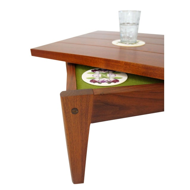 Rotating top accent table chairish for Revolving end table