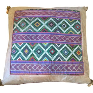 Suede Double Sided Tapestry Pillows - A Pair
