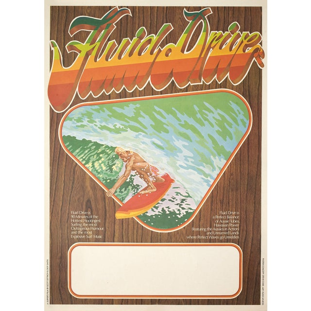 """Fluid Drive"" 1974 Surfing Film Poster - Image 2 of 2"