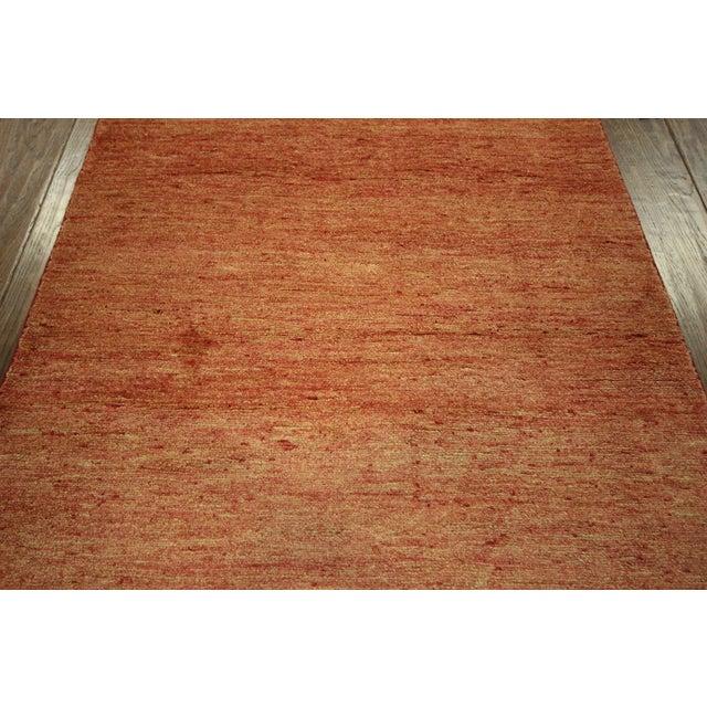 "Orange Striped Gabbeh Runner Rug - 2'10"" x 13'9"" - Image 7 of 10"
