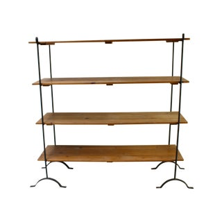 French Country Farmhouse Wood Iron Display Shelves