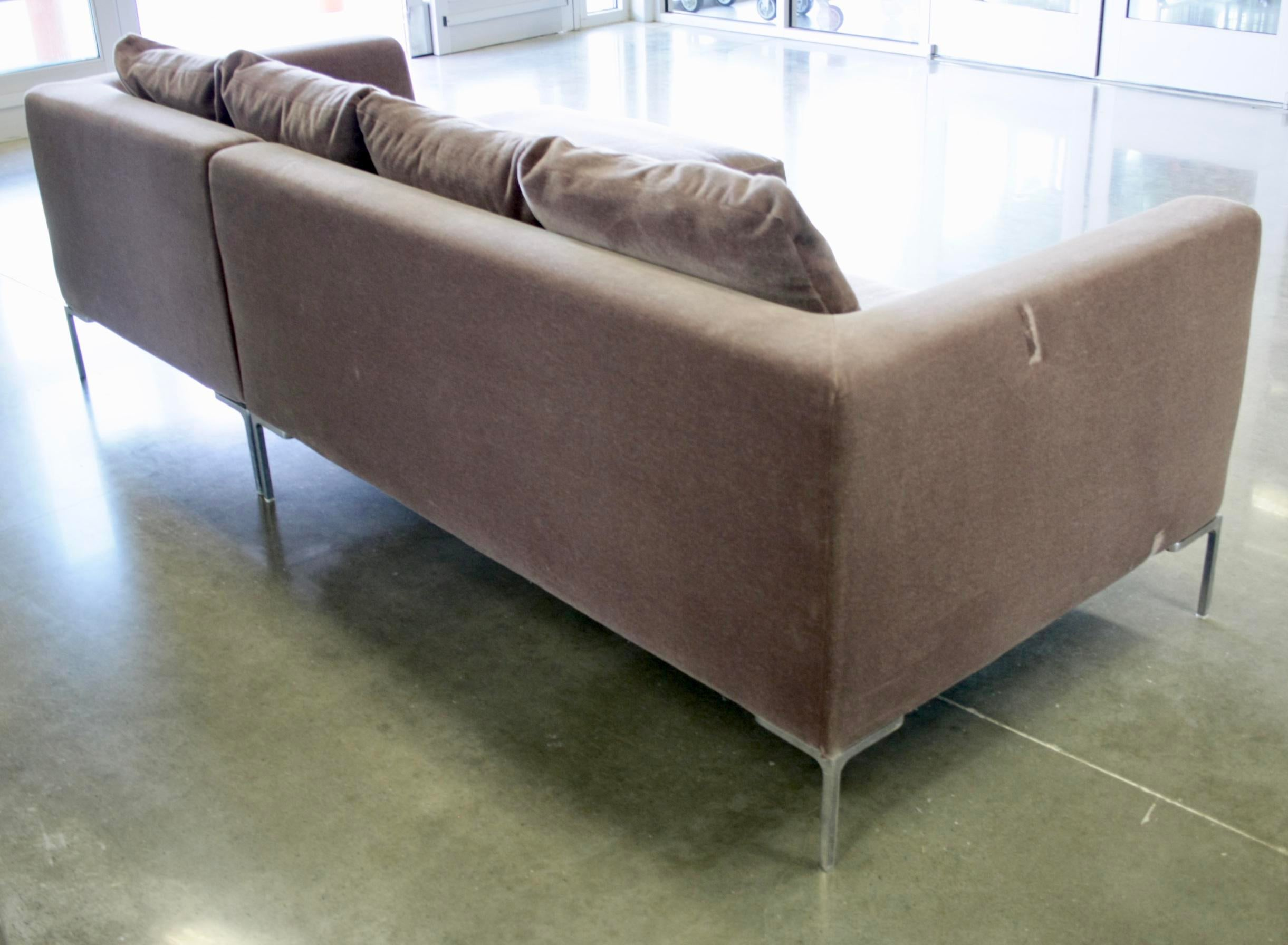 Mohair Sofa By Antonio Citterio For Bu0026b Italia   Image 5 Of 10