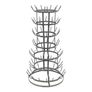 Tall French Bottle Drying Rack