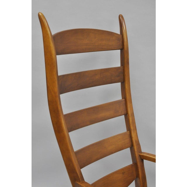Mid-Century Tell City Maple Sculptural Ladder Back Rocking Chair - Image 4 of 11