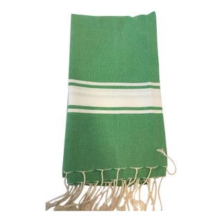 Green Tunisian Fouta Towel