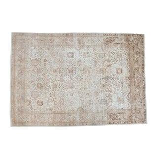 "Distressed Tabriz Carpet - 9'3"" X 13'6"""