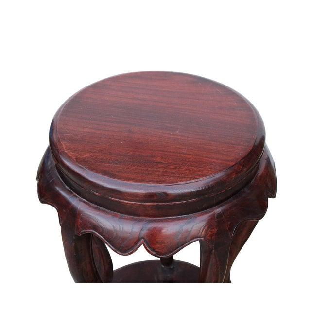 Chinese Traditional Wood Drum Stool Chairish