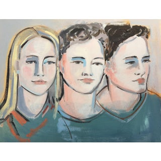 Portrait of Three Women Painting