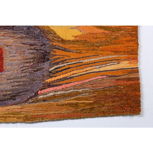"""Large Tapestry by Krystyna Wojtyna-Drouet Titled """"Fruit"""" - Image 4 of 10"""