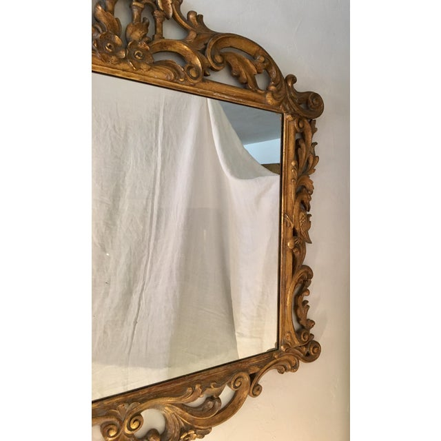Gilt Finish Carved Italian Mirror - Image 7 of 11