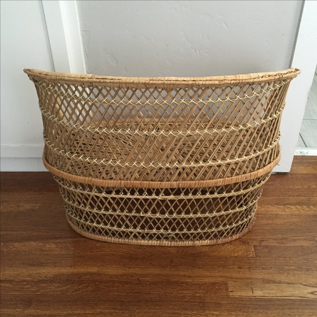 Image of Vintage Child's Wicker Bench