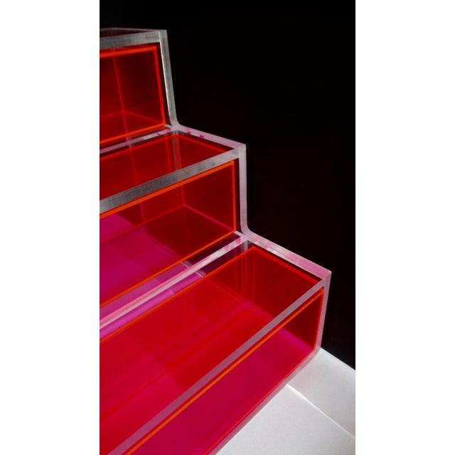 Pink Block Lucite Display Shelving - Image 3 of 10