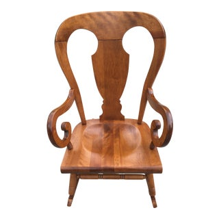 Tell City Balloon Back Maple Rocking Chair