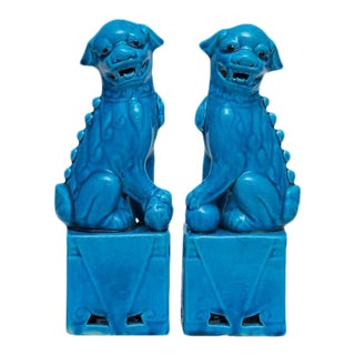 Mid-Century Chinese Foo Dogs Bookends - a Pair
