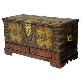 Brass Nailhead Moroccan Chest