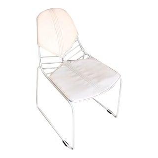 White Wire Mesh Chair