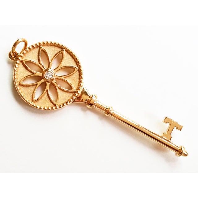 Image of Tiffany & Co 18k Diamond Rose Gold Daisy Key