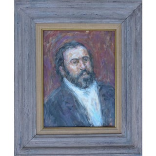 Thomas Strickland Impressionistic Painting of Pavarotti