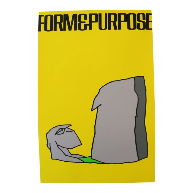 1980 Signed Exhibition Poster, Vittorio, Form and Purpose - Image 1 of 4