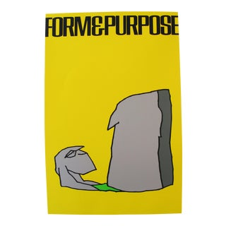 1980 Signed Exhibition Poster, Vittorio, Form and Purpose