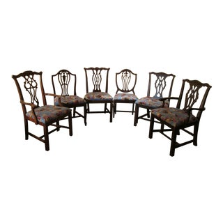Curated Duncan Fyfe and Chippendale Chairs - Set of 6