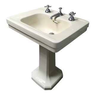 American Standard Antique Art Deco Pedestal Sink