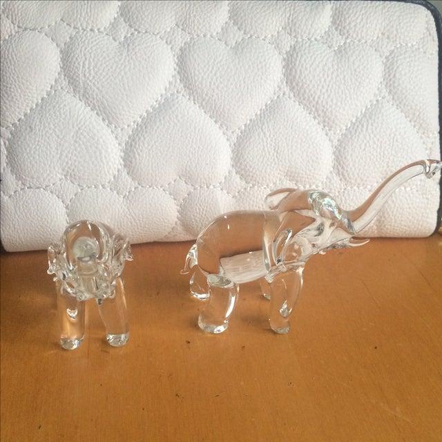 Image of Glass Elephants - Pair
