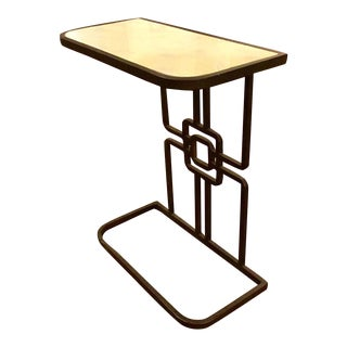 Gabby GilbertGeometric Iron Base Accent Table