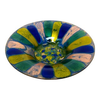 Vintage Copper Enamel Bowl