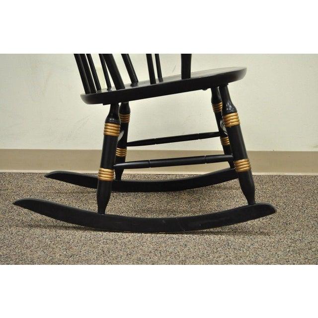 Vintage Sigill College University Nichols & Stone Windsor Rocking Chair - Image 7 of 11